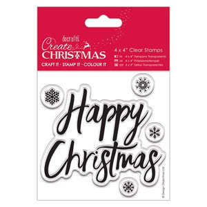 Christmas Clear Stamps  4 x 4 in