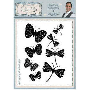Clear Stamp from Phil Martin-Flourish Butteflies & Dragonflies