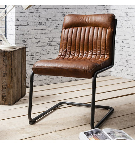 Capri Leather Chair by Hudson Living