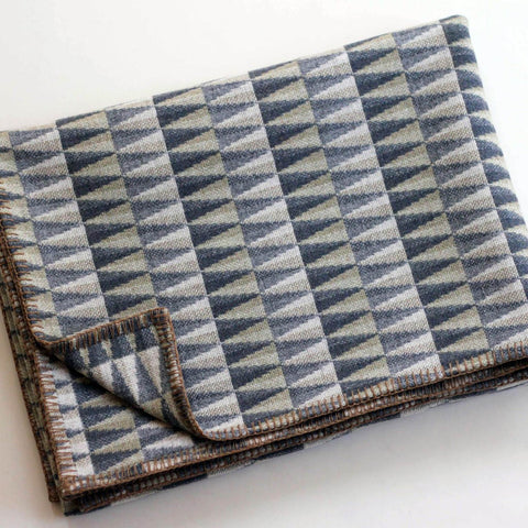 Prism Throw in Grey by Chalk Wovens
