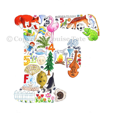 Louise Tate Alphabet Art Letter F