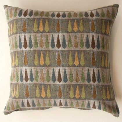 Fern Cushion in Topaz by Chalk Wovens