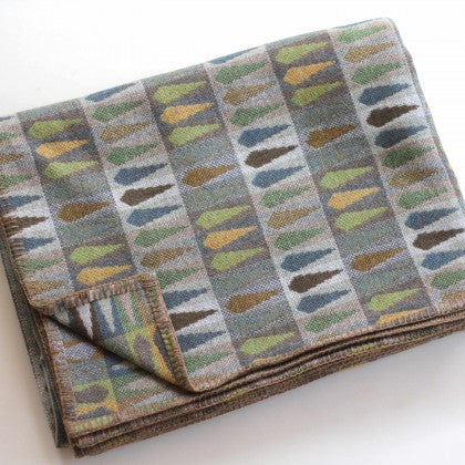 Fern Throw in Topaz by Chalk Wovens
