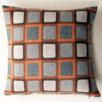 Squircle Cushion in Orange by Chalk Wovens