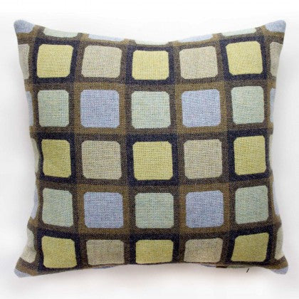 Squircle Cushion in Sage by Chalk Wovens
