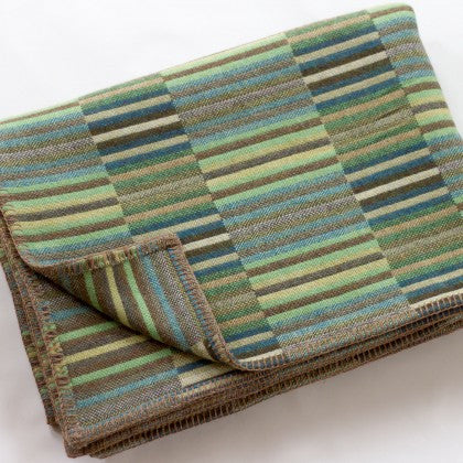 Reed Throw in Jade by Chalk Wovens