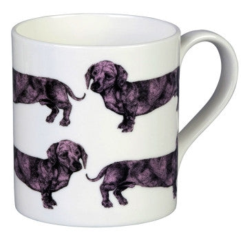 Dachshund Mug in Pink by Lisa Bliss