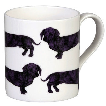 Dachshund Mug in Purple by Lisa Bliss