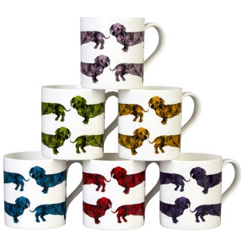 Dachshund Mug in Green by Lisa Bliss