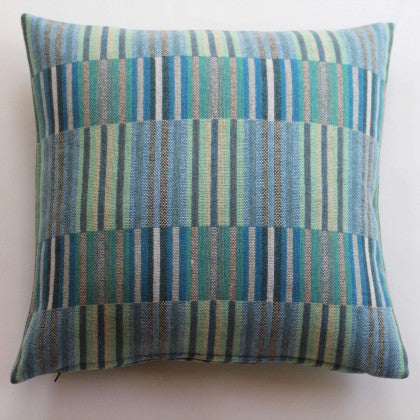 Reed Cushion in Turquoise by Chalk Wovens