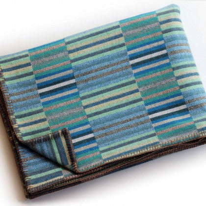 Reed Throw in Turquoise by Chalk Wovens