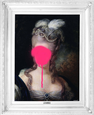 Madame Blush- Ornate Framed Canvas Print