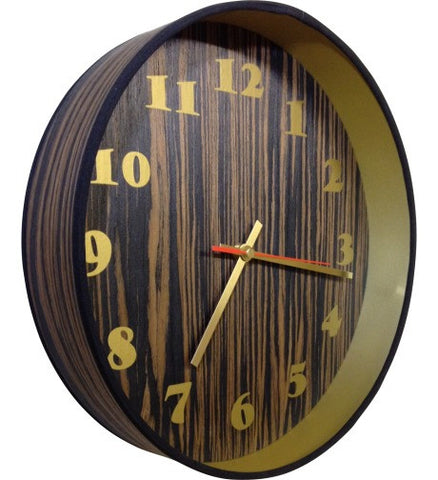 Dark Veneer Drum Clock by Storm Furniture