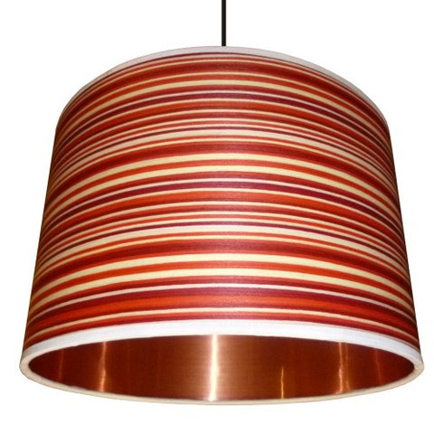 Copper and Candy Drum Lampshade by Storm Furniture