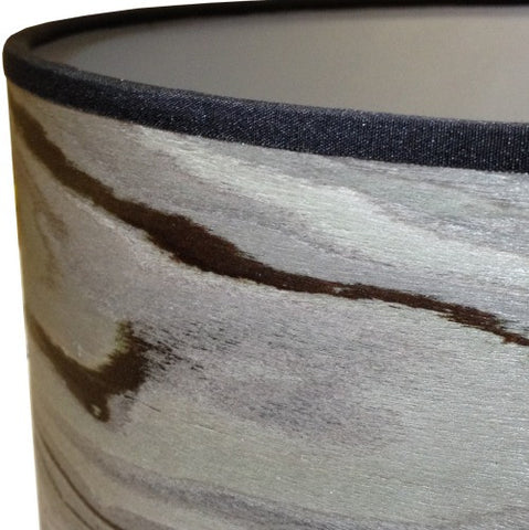 Designer Grey Drum Lampshade by Storm Furniture
