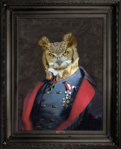 'Grandfather Olaf' - Ornate Framed Canvas Print