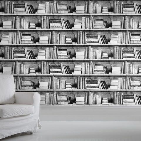 Photocopy Bookshelf Wallpaper by Mineheart