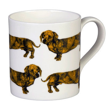 Dachshund Mug in Yellow by Lisa Bliss