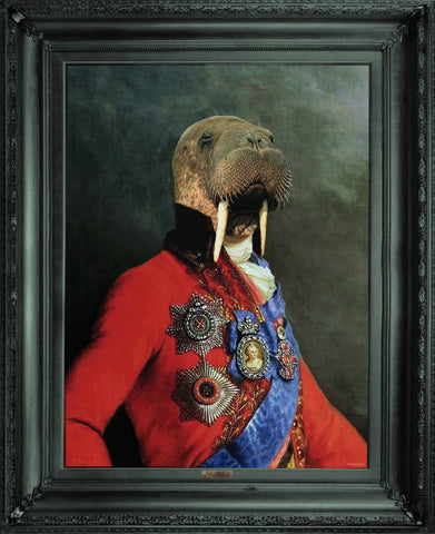 'Uncle Walter' - Ornate Framed Canvas Print