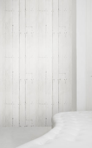 White Plank Wallpaper by Mineheart