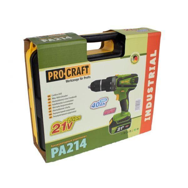 Autofiletanta cu percutie Procraft PA214, 21 V, 4 Ah, 60 Nm, 1500rpm, Mandrina metalica (EF-7979)