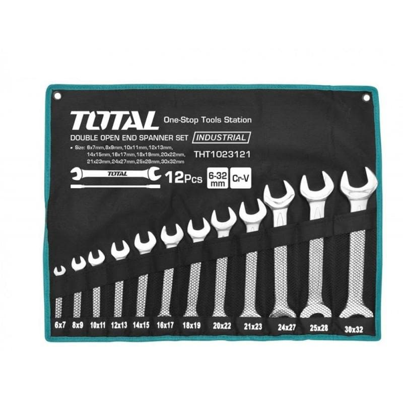 Set 12 chei fixe - 6-32mm INDUSTRIAL TOTAL (THT-1023121) - Ro-Unelte