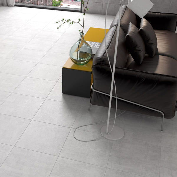 Pavimento COFFRAGE Branco 45x45 8685 - Cinca