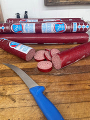 A true beef and pork cervelat Summer Sausage - one pound