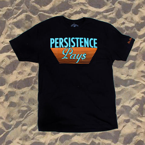 Star Island Collection Persistence Pays Black T-Shirt