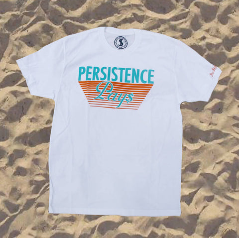 Star Island Collection Persistence Pays White T-shirt