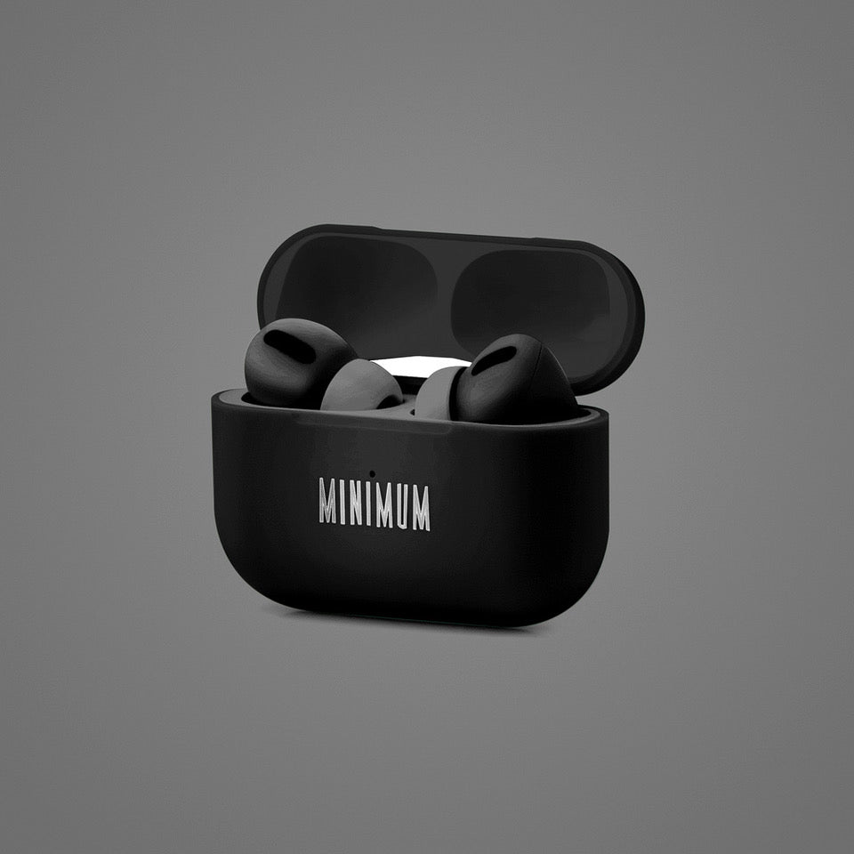 MINIMUM Black Audio MPods Pro earbuds in case
