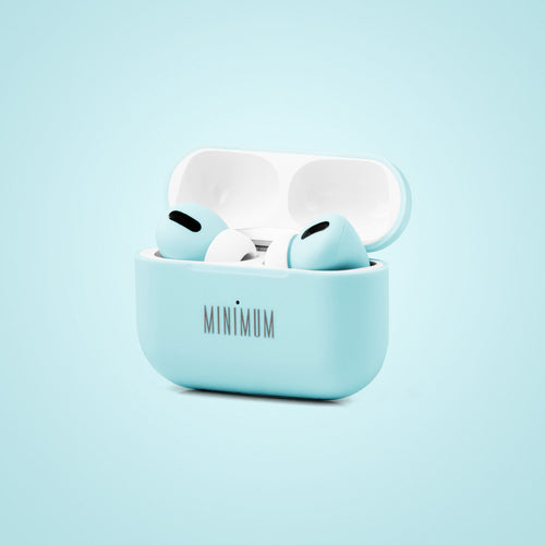 MINIMUM Sky Blue Audio MPods Pro earbuds in case