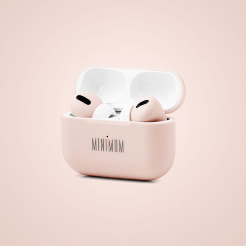 MINIMUM Pink Audio MPods Pro earbuds in case