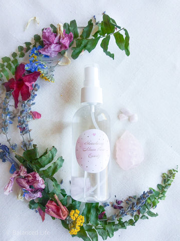 Strawberry Moon Rose Quartz Spray