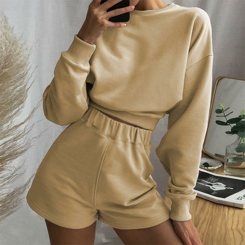 Long Sleeve Top And Pant Joggers Women Set