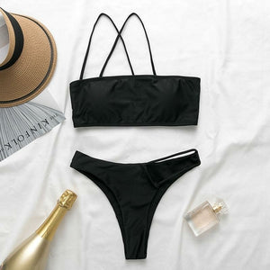 One Shoulder Thong bikini w/ Cut Out