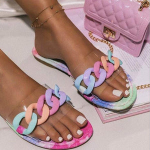 HOT Candy Color Ring Sandals Fashion Casual Lightweight Outer Wear Large Size Slippers Outdoor Beach Sandals 2020 New flip flop miami blvd boutique pink sandals