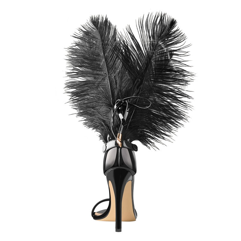 feather heels faux fur leather vegan leather patented heels black women shoes spring summer fall winter party baddie cute tall heels short heels sale miami blvd boutique holiday shopping 2020