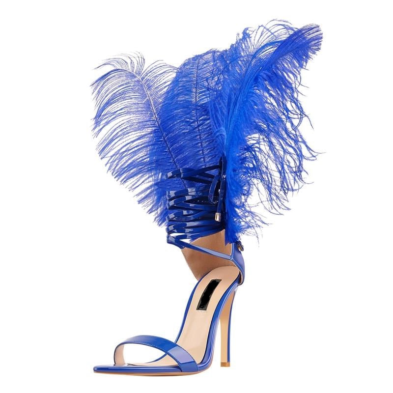 feather heels faux fur leather vegan leather patented heels black women shoes spring summer fall winter party baddie cute tall heels short heels sale miami blvd boutique holiday shopping 2020 blue shoes