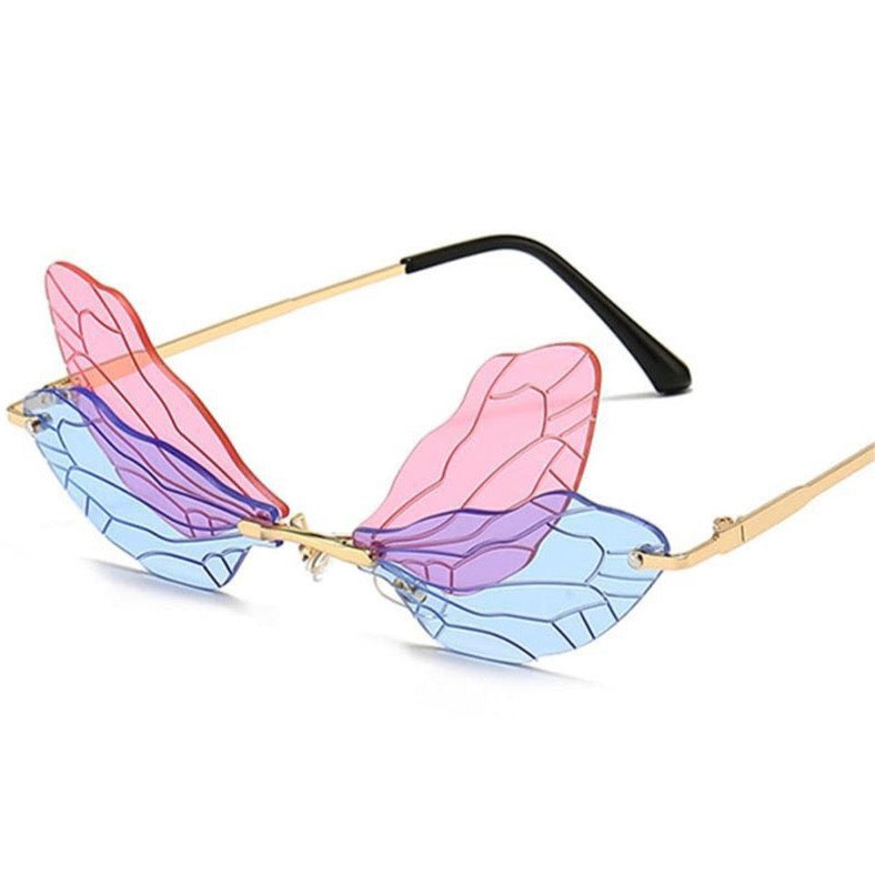butterly sunglasses miami  spring summer spring break fun novelty glasses novelty handbag