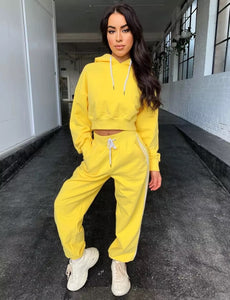 Women's Cute Hoodie Two Piece Set