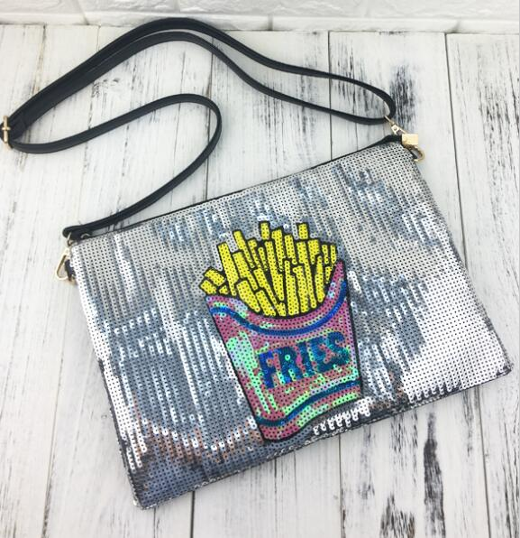 French Fries Sequined Purse