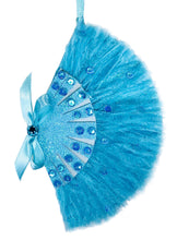 Load image into Gallery viewer, Sisters Blue Feather Fan Ornament
