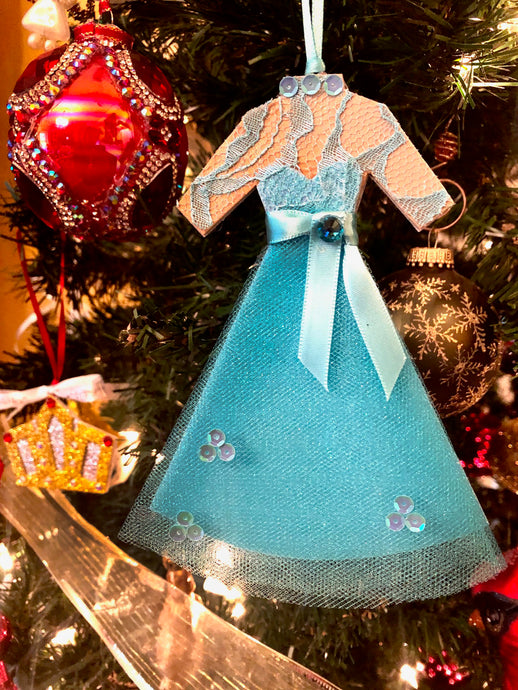 Blue Sisters Dress inspired by the costumes worn by Vera Ellen and Rosemary Clooney in White Christmas.