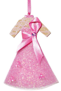 Breast Cancer Awareness Christmas Ornament - Light Skin Tone