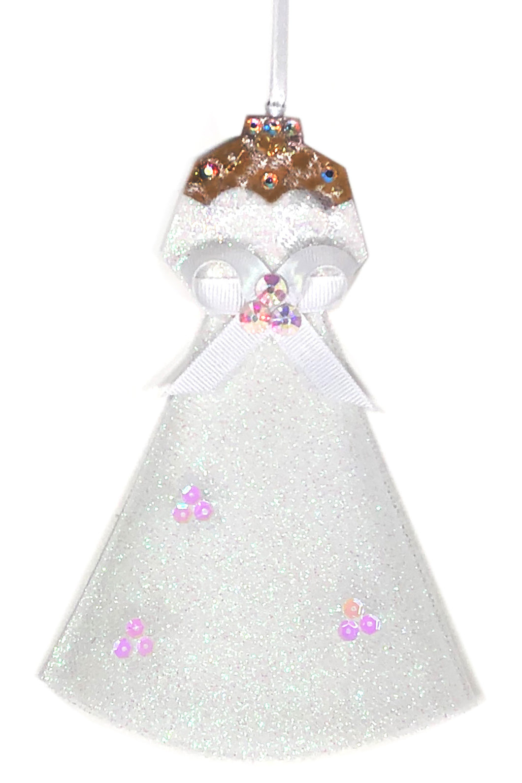 Wedding Gown Christmas Ornament - Medium/Dark Skin Tone