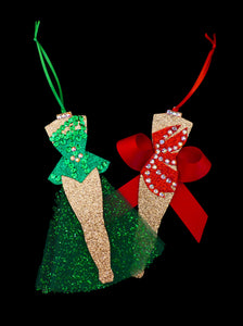 Copy of Set of 2 Chorus Girl Costume Ornaments