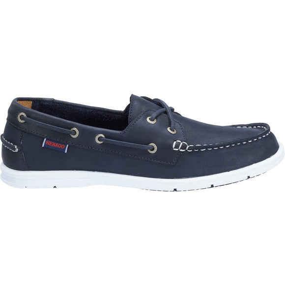 Litesides Two Eye W - Navy Leather