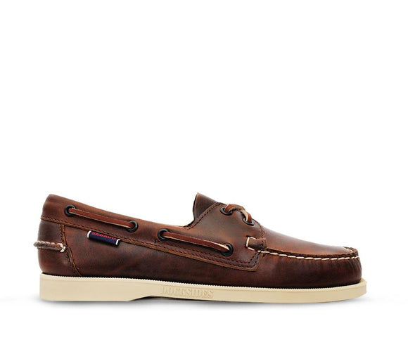 Docksides M - Brown Oiled Waxy White Sole