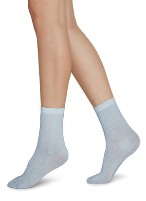 Stella Shimmery Socks / Light Blue - Alt view